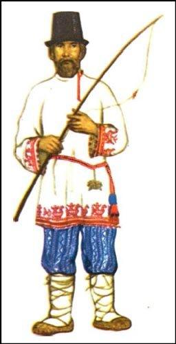 Описание: русский народный мужской костюм - Фото.