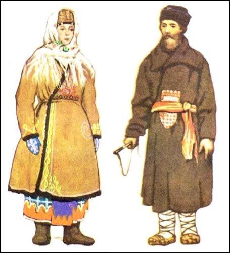 русский народный костюм мужской.