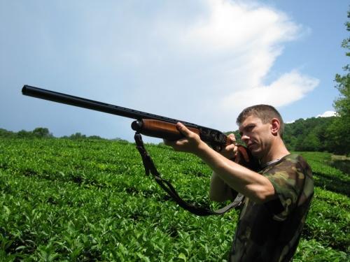 Оружие находится также в архивах: ружье карабин лось и самодельное духовое ружье.