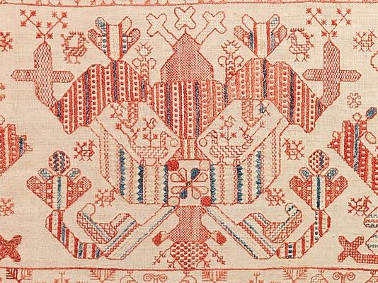 Русские подзоры (кроме строчевой вышивки). Музей Метрополитет