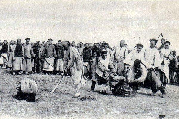 Казнь хунхузов в Маньчжурии.
